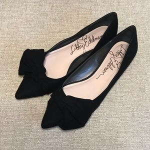 • Black Libby Edelman Rosie Flats w/ Bow •